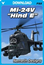 Nemeth Designs Mi-24V 'Hind E' for FSX