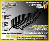 Vinyl Decal - Queenzlander Silverfern
