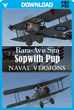 Rara-Avis Sim Sopwith Pup - Naval Versions Expansion (FSX+P3D)