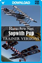 Rara-Avis Sim Sopwith Pup - Trainer Versions (FSX+P3D)