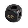 "Black 4 Way Brass Lok-Seal G1/4"" Manifold"