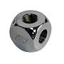 "Chrome 4 Way Brass Lok-Seal G1/4"" Manifold"
