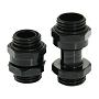 "Black SLI & CrossFireX 11 To 18mm Brass Lok-Seal G1/4"" Connector"
