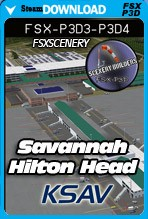 Savannah / Hilton Head International Airport KSAV (FSX/FSX:SE/P3D)