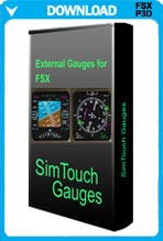 SimTouch Gauges for FSX and P3D