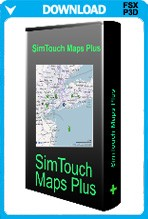 SimTouch Maps Plus for FSX and P3D