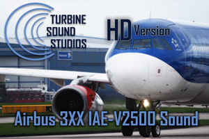 Airbus 3XX IAE-V2500 soundpack for FSX
