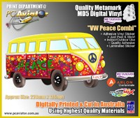 "VW ""Peace"" Combi Van Sticker"