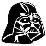 Vinyl Decal - The Head of Darth Vader