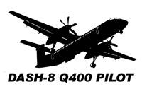 Vinyl Decal - Dash-8 Q400 Pilot
