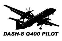 Vinyl Decal - Dash-8 Q400 Pilot