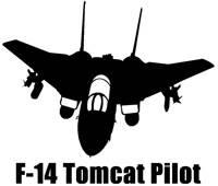 Vinyl Decal - F-14 Tomcat Pilot