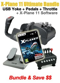 X-Plane 11 Ultimate Starter's Bundle (Incl. Software + Controllers)
