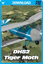 HD Airplanes DH82 Tiger Moth (FSX+P3D)