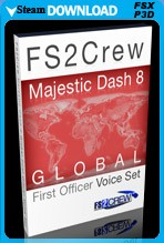 FS2Crew: Majestic Dash 8 Global First Officer Voice Pack