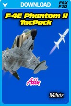 F-4E Phantom II TacPack Addon (FSX/FSX:SE/P3D)