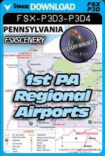 1st Pennsylvania Regional Airports Pack (FSX/FSX:SE/P3Dv3,v4)