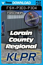 Lorain County Regional Airport KLPR (FSX/FSX:SE/P3Dv3-v4)