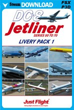 DC-8 Jetliner Series 50-70 Livery Pack 1