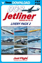 DC-8 Jetliner Series 50-70 Livery Pack 2