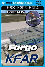Hector International Airport-Fargo KFAR (FSX/FSX:SE/P3Dv3-v4)