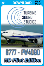 Boeing 777 PW4090 Pilot Edition Sound Pack (FSX/P3D)