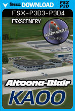 Altoona-Blair County Airport KAOO (FSX/FSX:SE/P3Dv3-v4)