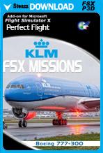 FSX Missions - KLM B777-300 (FSX/P3Dv1-v4)