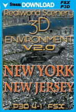 RealWorld Scenery - New York & New Jersey 3D Environment (FSX/FSX:SE/P3Dv1-v4)