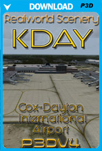 KDAY - James M. Cox - Dayton International Airport (P3Dv4)