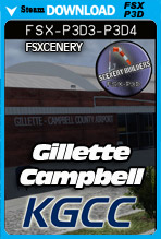 Gillette Campbell County Airport KGCC (FSX/FSX:SE/P3Dv3-v4)