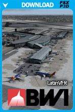 Baltimore/Washington International Airport KBWI (FSX/P3Dv2-v4)