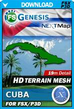 FSGenesis - NEXTMap Cuba Terrain Mesh