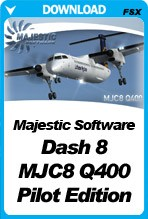 Majestic Software Dash 8 Q400 Pilot Edition (FSX+P3Dv2)