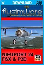 FlySimWare 1917 Nieuport 24 BiPlane (FSX/FSX:SE/P3Dv1-v4)