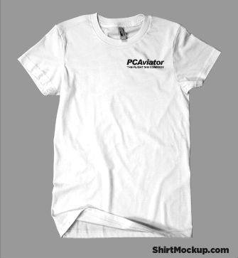 PC Aviator Branded 100% Cotton T-Shirt (Male Cut)