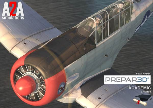 A2A Simulations Accu-Sim T-6 Texan FSX/P3D Academic Bundle