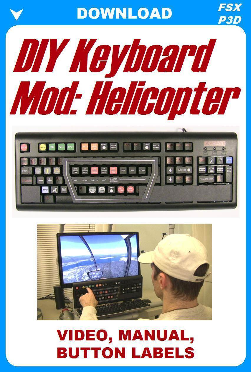 DIY Keyboard Mod: Helicopter Video