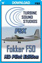 Fokker F-50 PW-125B HD Pilot Edition Sound Package for FSX